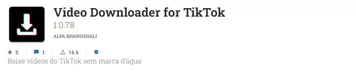 abaixador de videos do tik tok
