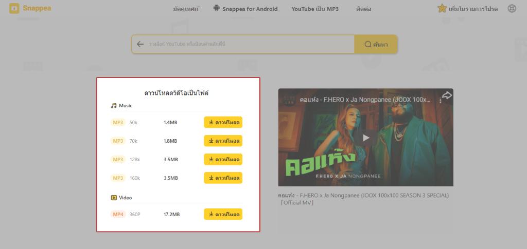โปรแกรม โหลด เพลง youtube mp3